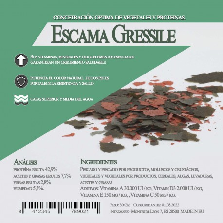 Escama Gressile 400 Gr / 3 Litro