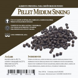 Pellet Medium  Sinking 1800 Gr / 3 Litro